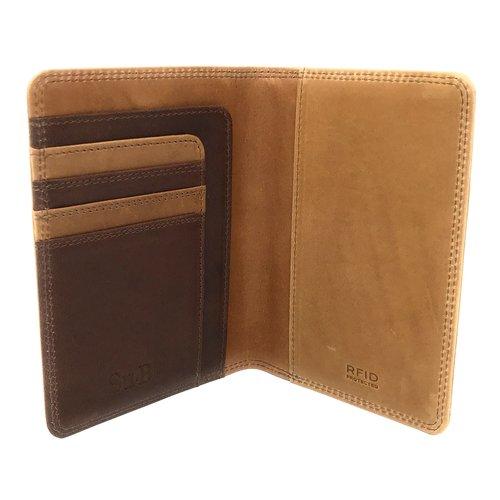 Su.B Luxe RFID Leder Paspoort Hoesje met Pasjeshouder - Paspoorthouder - Paspoorthoes met Kaarthourder - Bruin