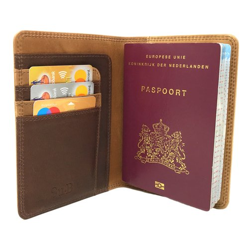 Su.B Meppel Passport Wallet Brown