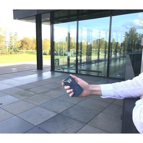 Su.B Leder Schlüsseletui - Portemonnaie - Brieftasche - mit Außentasche - Türkis