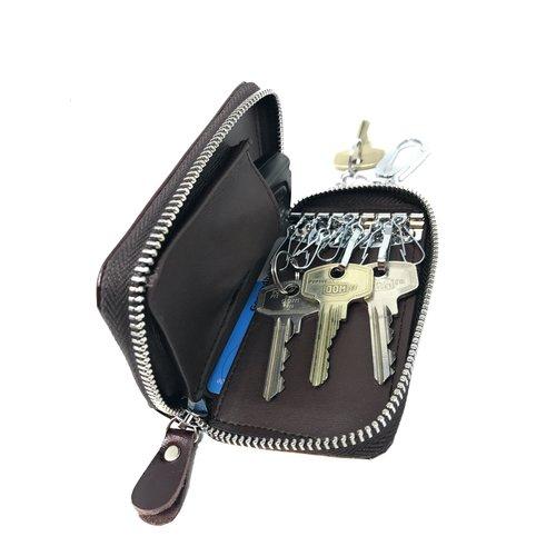 Su.B CN Car Key Case Dark Brown