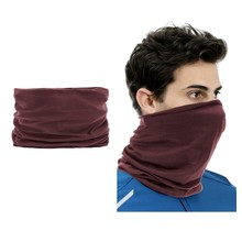 2 pieces Multi-functional Polyester Cowl Neck Scarf  - Bandana - Balaclava - Ideal for Sports Cycling Motorbike - Unisex - Brown