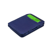 Hunterson Magic Wallet - Leather Wallet Card Coin Holder - Blue