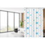 Su.B.dgn Designer Shower Curtain 180 x 200 Polyester Washable Bathroom Curtains with Rings | White and Blue