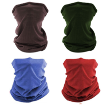 4  Pieces Multi-functional Polyester Cowl Neck Scarf  - Bandana - Balaclava - Ideal for Sports Cycling Motorbike - Unisex -  Multi Colour