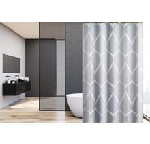 Douchegordijn 120x180  polyester badkamer douchegordijn wasbaar met 12 ringen | Grijs Patroon