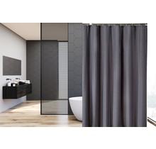 Bedruckter Duschvorhang aus Polyester 120 x 180cm - Wasserdicht - Mit Ringen | Grau