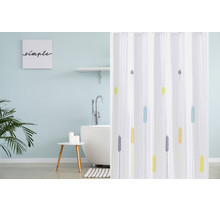 Shower Curtain 180 x 200 Polyester Washable  Bathroom  Curtains with Rings  | Wheat