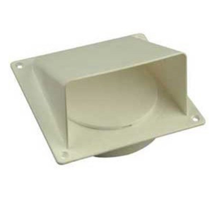 Gevelkleprooster Wit 100/125mm
