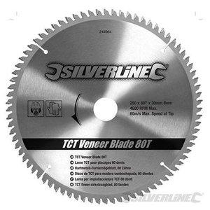Silverline Zaagblad 250 x 30/25/20/16 mm 80 Tands