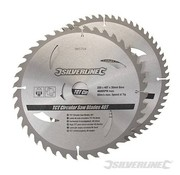Silverline Zaagblad 250 x 30/25/20/16 mm 40+60 Tands SET