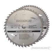 Silverline Zaagblad 300 x 30/25/20/16 Set 40 + 60 Tands