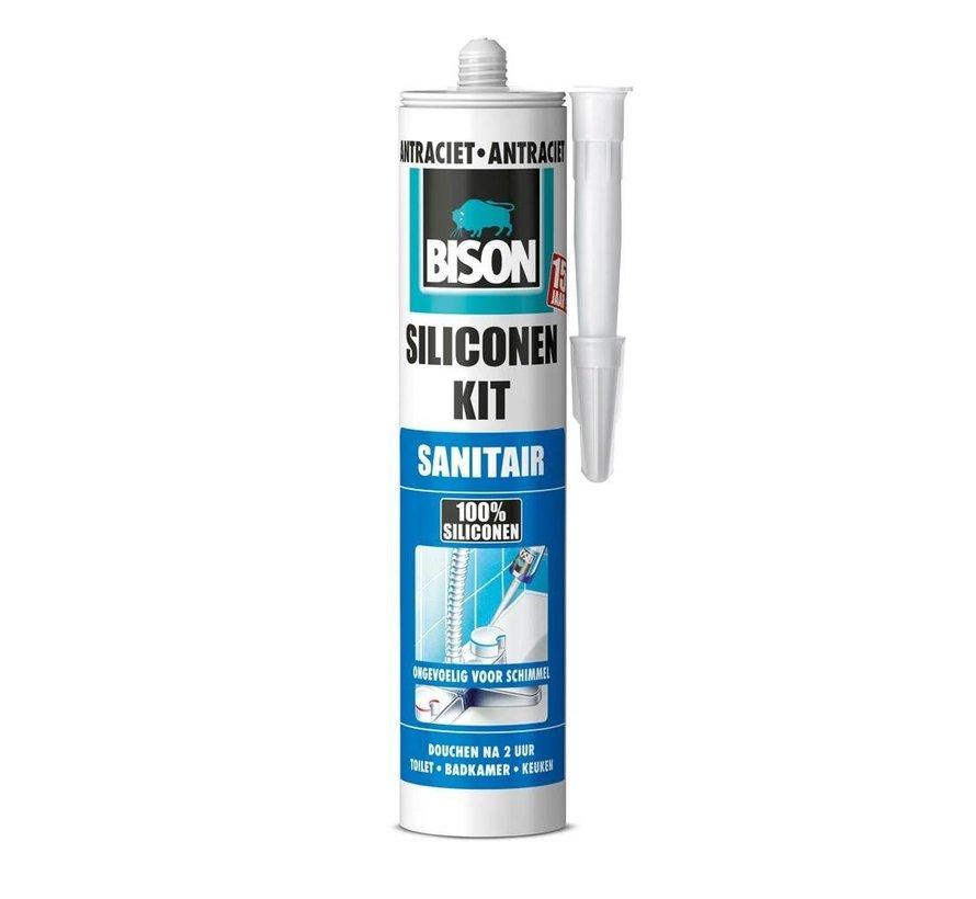 Bison siliconenkit - sanitait antraciet