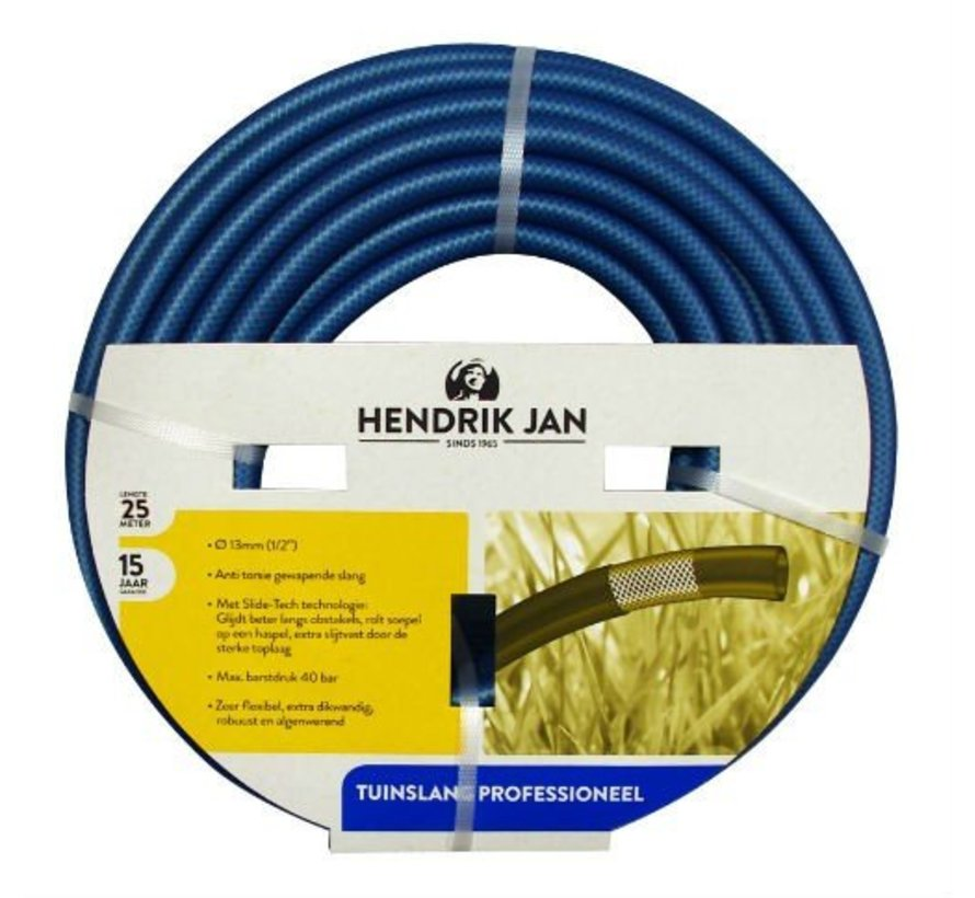 "Hendrik Jan tuinslang professioneel 13 mm (1/2"") 25 m1"