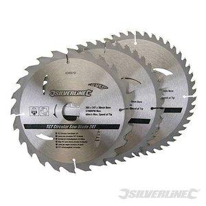 Silverline Zaagblad 200 x 30/25/18/16 mm SET