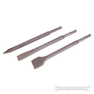 Silverline SDS-plus beitel set 3-delig Silverline