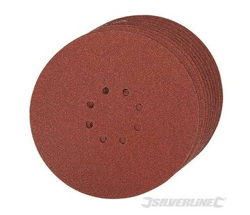 Silverline Schuurschijf 225mm K60 Klittenband 10stuks