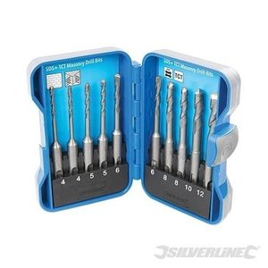 Silverline hamerboorset 10-delig SDS Plus 628645