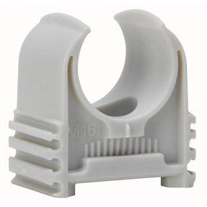Kopp Kopp buisklemzadel 5/8 grijs 10 stuks