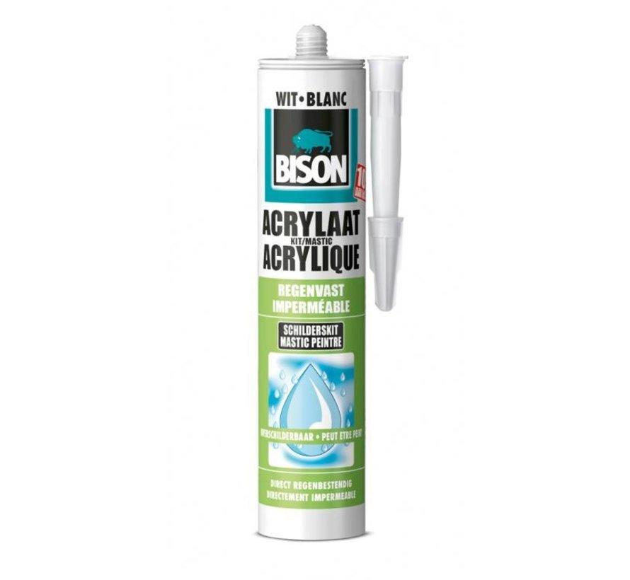 Bison acrylaatkit - direct regenbestendig