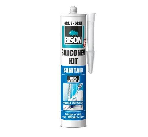 Bison Bison siliconenkit - sanitair grijs