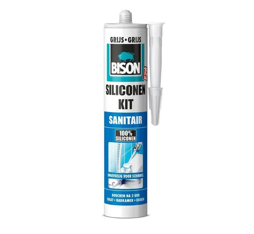 Bison siliconenkit - sanitair grijs