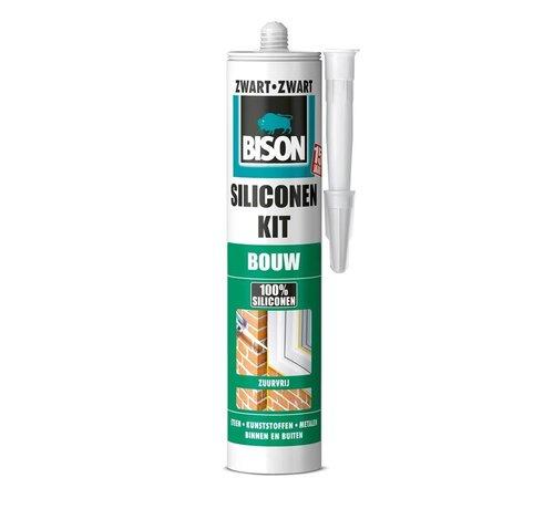 Bison Bison siliconenkit - bouw -zwart