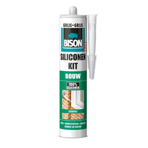 Bison Bison siliconenkit bouw grijs 310 ml