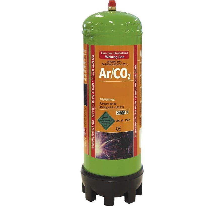 GYS Argon/CO2 wegwerpgasfles 1,8 liter