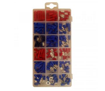 Skandia Skandia kabelschoen set rood en blauw 174 stuks