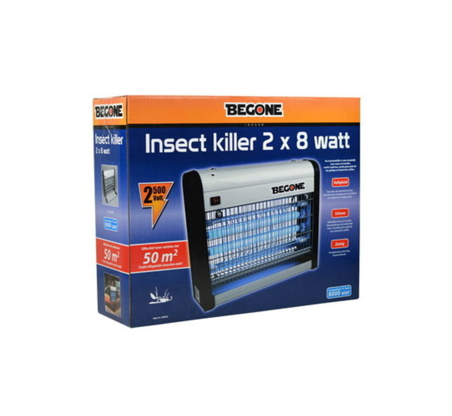 BEGONE Insect killer 2 X 8W - 50M²