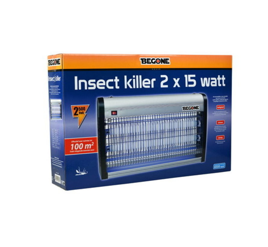 BEGONE Insect killer 2 X 15W - 100M²