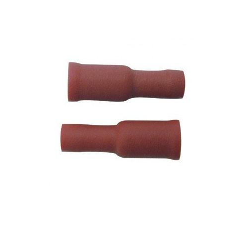 Skandia Skandia kabelschoen rondstekerhuls 4 mm rood 10 stuks