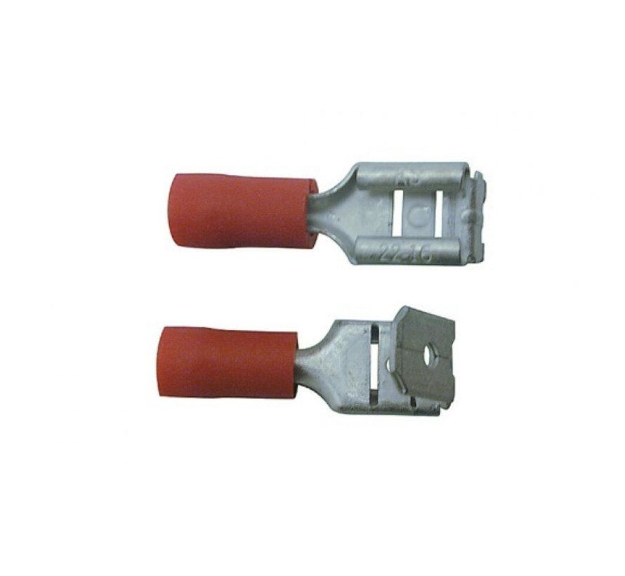 Skandia kabelschoen aftakstekerhuls rood 10 stuks