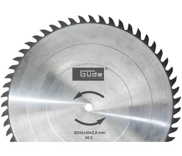 Güde Zaagblad 255 x 30 mm HM T60 - 55263