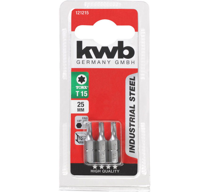 KWB Bit Torx - Set 3 stuks Torx 15