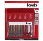 KWB Decoupeerzaagbox 10-delig T-schacht