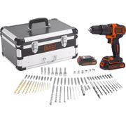 Black & Decker Accu boor/schroefmachine BDC718AS2F met 80 accessoires in koffer