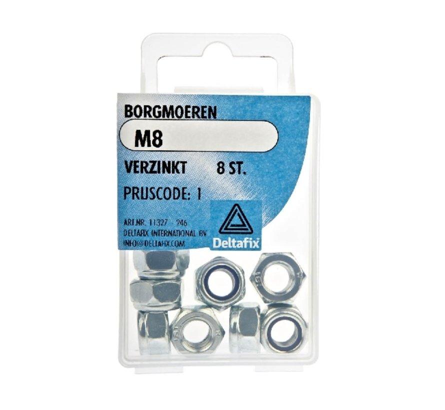 Deltafix Borgmoeren M8 8 stuks