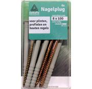 Deltafix Nagelpluggen 8x100mm 6 stuks
