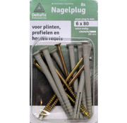 Deltafix Nagelpluggen 6x80mm 8 stuks