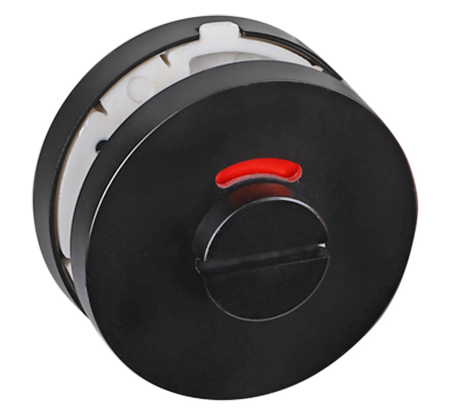 Impresso rozet WC, rond, verdekt Ø53 x 7 mm zwart