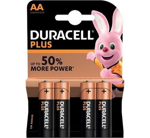 Duracell Duracell batterij AA super alkaline LR6, 4 per pak