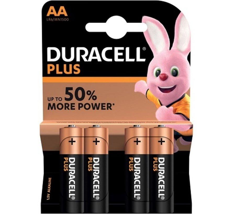 Duracell batterij AA super alkaline LR6, 4 per pak