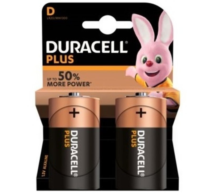 Duracell batterij D super alkaline LR20