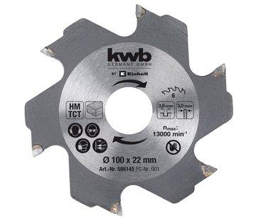 KWB Zaagblad Voor lamellenfrees 100 x 22 3,8 mm