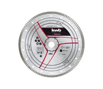 KWB Diamantslijpschijf 300 x 25,4mm Turbo