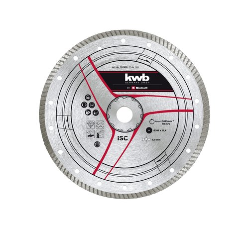 KWB KWB Diamantslijpschijf 300 x 25,4mm Turbo