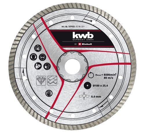 KWB KWB Diamantslijpschijf 180 x 25,4mm Turbo