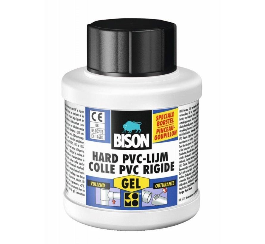 Bison hard pvc lijm gel 250 ml + kwastje