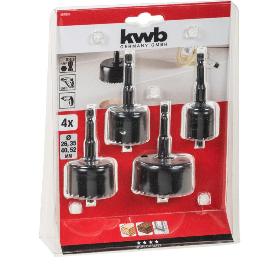 KWB Gatenzaagset 4-delig voor Accuboormachine